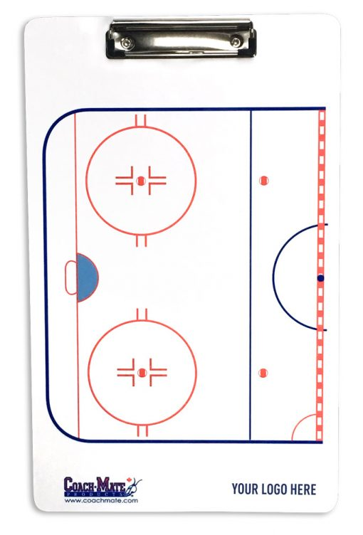 Coach-Mate double sided hockey clipboard for coaches