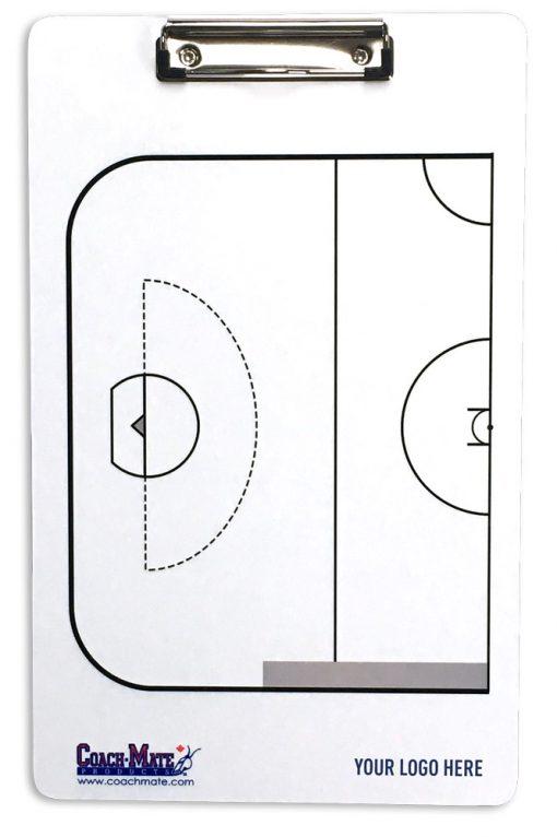Coachmate clipboard for lacrosse - back side
